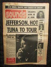 1971 SOUNDS Music Magazine Newspaper VG Oct. 2 Traffic Ray Charles Hot Tuna