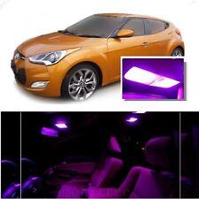 For Hyundai Veloster 2011+ Pink LED Interior Kit + Pink License Light LED
