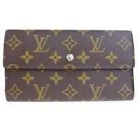 Auth LOUIS VUITTON International Trifold Wallet Monogram Leather M61217 01SA132