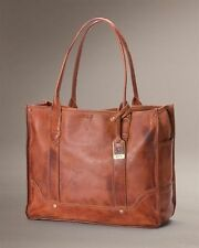 New Authentic FRYE Campus Shopper Handbag Luxury Italian Leather Saddle $398