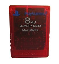 Sony OEM PS2 Memory Card Red 8MB Very Good PlayStation 2 5Z