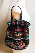 "Jerusalem Beaded Tote Bag w/Drawstring Closure 15""x15"""