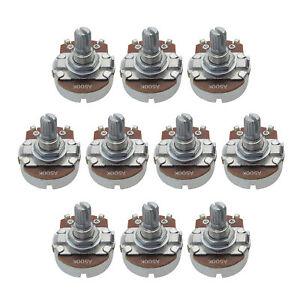 Set 10PCS Full Size A500k Guitar Pots 15mm Short Shaft Pots with Bayonet Tip