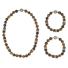 Chloe and Isabel Tiger Eye Convertible Necklace - N349TI - NEW -