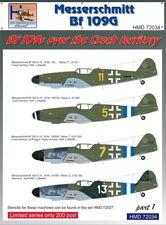 H-modèle Decals 1/72 Messerschmitt Bf 109 S sur le tchèque territoire, Part 1 # 720