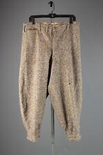 Vtg Men's 1920s Wool Brown Rainbow Teed Kickers sz 36x25 20s Pants #3956