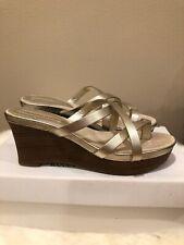 Banana Republic Women's Platform Wedge Sandals - Light Gold - Size 8 (New)