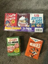Wacky Packages All New Series 7 Five Cereal Boxes (3 SEALED), two empty