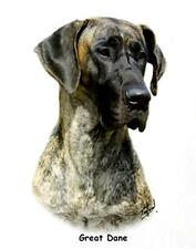 """GREAT DANE (Brindle Color) Dog Head. 16"""" Fabric Panel to Sew. Picture is 8""""x11""""."""