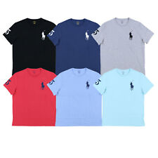 Polo Ralph Lauren Mens T-Shirt Crew Neck Embroidered Big Pony Logo S M L Xl Xxl