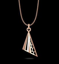 "IGI Certified ""Happy Crest"" Pendant Necklace Natural VS Diamonds 14K Rose Gold"