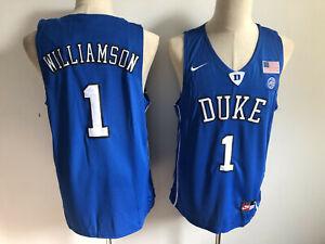 Zion Williamson #1 Duke Blue Devils Men's Basketball Jersey - S to 5XL