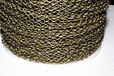 15ft Antique Brass 4x4mm Cable Chain links unsoldered 1-3 day Shipping