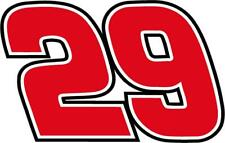 NEW FOR 2019 #29 Kevin Harvick Racing Sticker Decal S thru XLarge Various colors