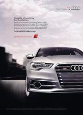 2012 2013 Audi S6 - Original Advertisement Print Art Car Ad J888