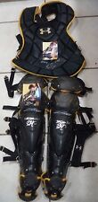 REESE MCGUIRE PIRATES SIGNED GAME USED CHEST PROTECTOR & SHIN GUARDS COA PROOF