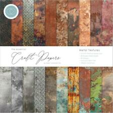 Craft Consortium Essential Craft Papers 12x12 Inch Paper Pad Metal Textures (cce