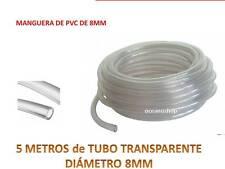 5 METROS TUBO 8MM TRANSPARENTE Flexible No Tóxico Manguera De PVC  Acuario