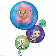 "28"" Anagram Bubble Guppies Stack Mylar Foil Balloon Party Supplies"