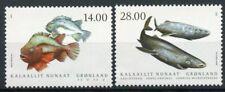 More details for greenland fishes stamps 2021 mnh fish in greenland iv sharks lumpsucker 2v set