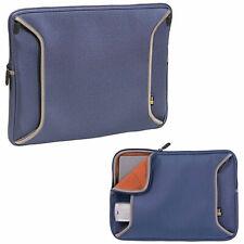 "NEW Case Logic SNS-15 Navy Blue 15.4"" Neoprene Laptop Sleeve with Power Pocket"