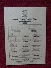 More details for essex  cricket team autographs 2001