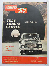 Auto Motor Sport 15/1961, Test: Lancia Flavia, Fiat 2300,