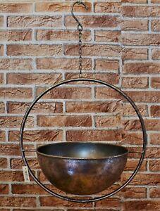 Blumenampel Metall H 38 cm Garten Pflanztopf Bepflanzung Dekoration Ampelhänger