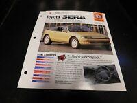 1990-1995 Toyota Sera Spec Sheet Brochure Photo Poster 94 93 92 91