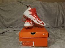 Nike Alpha Menace Pro Mid Football Cleats Size 10 White Orange 871451-811