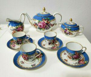 Antique Helena Wolfsohn Dresden Hand Painted Tea Set -1900