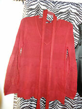 CHRISTAN  BEAUTIFUL RED V NECK SWEATER & SCARF  1X