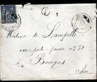 DUN-sur-AURON (18) ENVELOPPE Oblitération postale + Cachet Rural en 1895