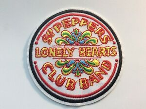 """4"""" Beatles Sgt Peppers Lonely Hearts Rock DIY Iron On Embroidered Applique Patch"""