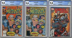 1990 New Mutants 87 & 2nd Print, 2004 Cable Deadpool 1 CGC 9.8