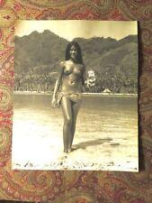 SYLVAIN FRENCH PHOTOGRAPHER TAHITI VAHINE WOMAN NUDE SIGNED 1960s PHOTO #1