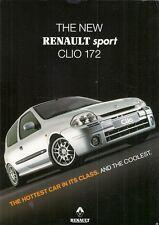 Renault Clio RenaultSport 172 1999-2000 UK Market Preview Leaflet Sales Brochure
