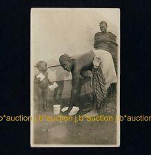 Africa NATIVE FAMILY / EINGEBORENEN FAMILIE * Vintage 20s Ethnic Nude Photo PC