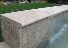 Bullnose Travertine Tumbled Coping Tile 610x406x30mm 406x406x30mm