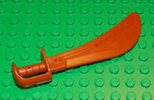 LEGO - Duplo Utensil Sword - Scimitar Type 2 - with Groove - Dark Orange