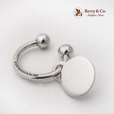 Tiffany Co Key Ring Round Blank Charm Sterling Silver 2001