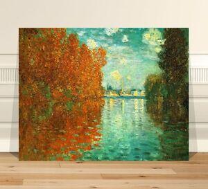 """Claude Monet Autum Effect Argenteuil ~ FINE ART CANVAS PRINT 32x24"""""""