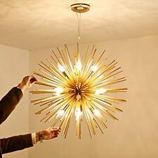 Gold Sputnik Dandelion Ceiling Lights Pendant Chandelier with 12-E14 Light Bulbs