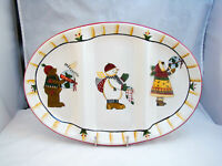 Sakura JOY TO THE WORLD by Debbie Mumm 3-Part Relish Dish READ