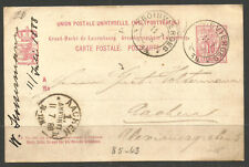 LUXEMBOURG. 1888. CARD. TROISVIERGES POSTMARK. AACHEN ARRIVAL.