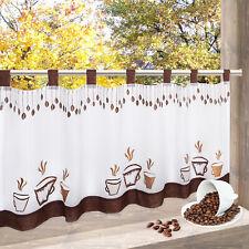 Scheibengardine Kaffee Coffee Kaffeetasen Bistrogardine 45x115 cm modern