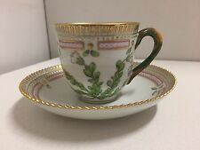 """Royal Copenhagen """"Flora Danica"""" Coffee Cup And Saucer First Quality- Flawless"""