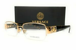 VERSACE VE1175B 1002 Gold/Havana Demo Lens Women's Eyeglasses 53 mm