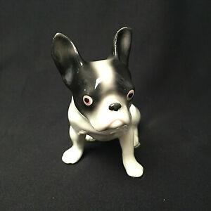 Antique Erphila Boston Frenchie Terrier Porcelin Figurine Germany