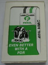 Land O Lakes Felco Playing Cards Gemaco Made in USA Advertising Cow Feed
